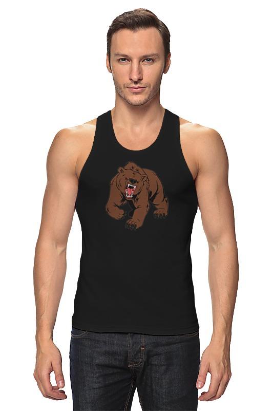 Майка классическая Printio Bear / медведь майка борцовка print bar volt bear
