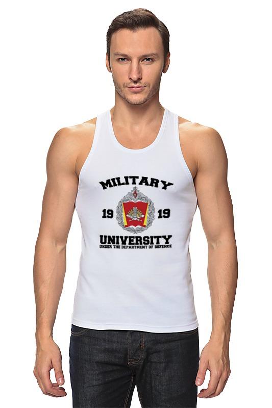 Майка классическая Printio 2016 военный университет мо рф (белая)