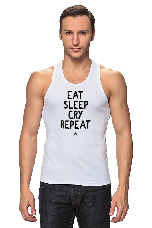 Майка классическая Printio Eat cry repeat by brainy детская футболка классическая унисекс printio eat cry repeat by brainy