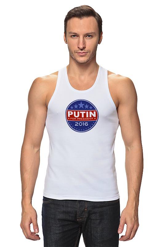 Майка классическая Printio Путина в президенты америки (2016) чехол для iphone 6 глянцевый printio путина в президенты америки 2016