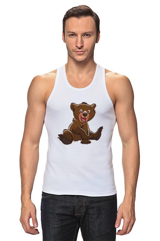 Майка классическая Printio Медвежонок медвежонок шарик
