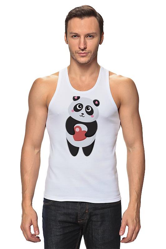 Майка классическая Printio Панда с сердечком свитшот print bar панда гангста