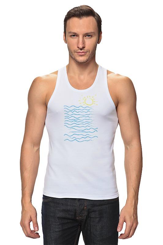 Майка классическая Printio Море и солнце майка print bar гладкое море