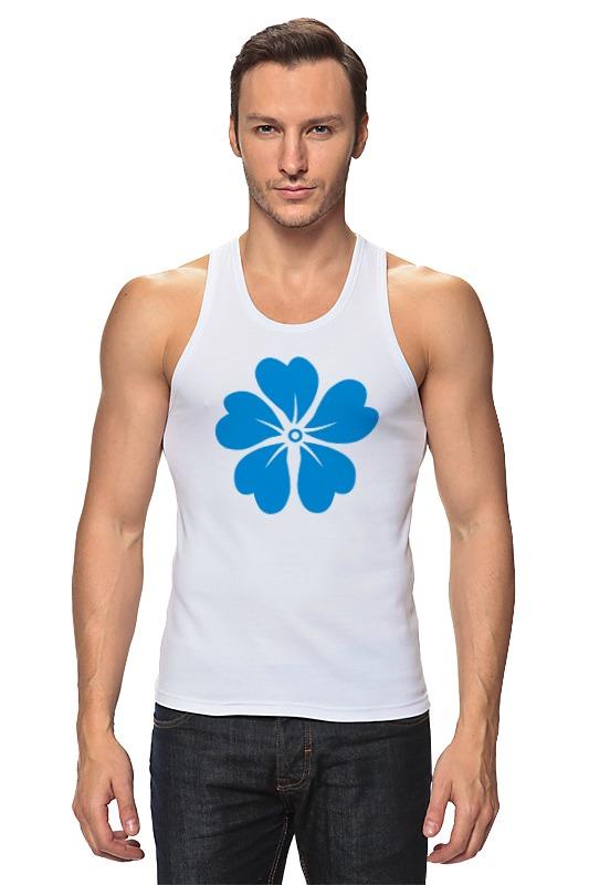 Майка классическая Printio Голубой цветок asled голубой цветок пламени xl no