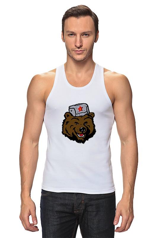 Майка классическая Printio Russian bear (русский медведь) лонгслив printio bear beer медведь и мед