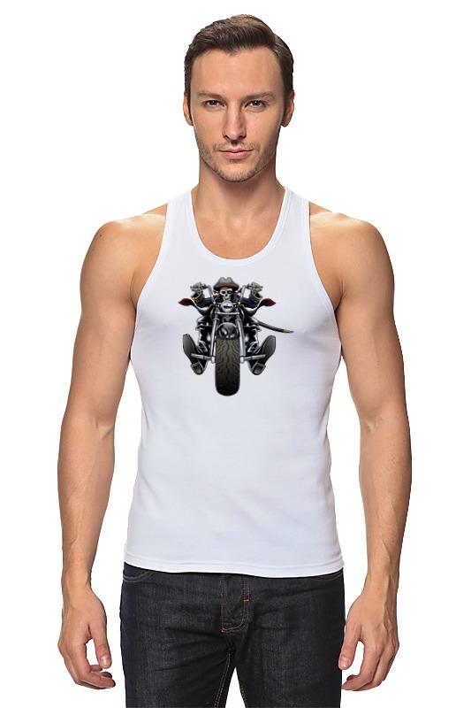 Майка классическая Printio Скелетон на мотоцикле мужская одежда для спорта