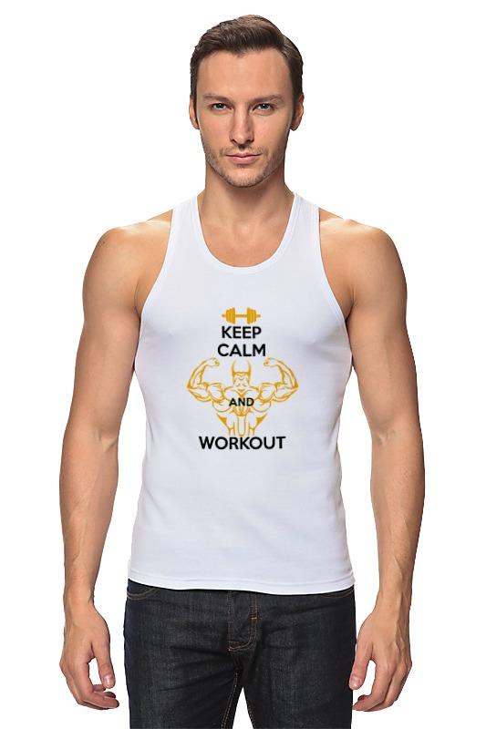 Майка классическая Printio Keep calm and workout сумка printio keep calm and ski on