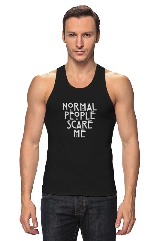 Майка классическая Printio Normal people scare me лонгслив printio normal people scare me
