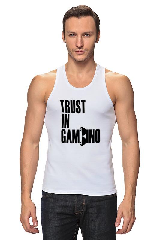 Майка классическая Printio Trust in gambino trust toilette пиджак