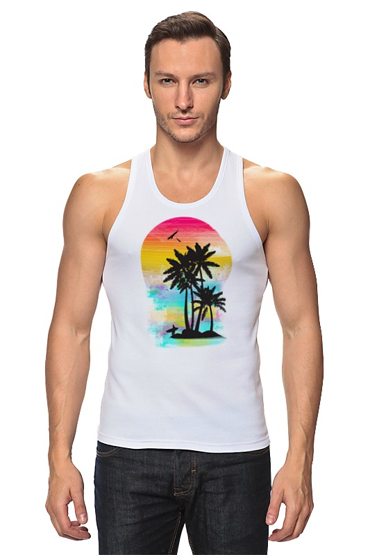 Майка классическая Printio Cолнечный пляж комплекты белья linse купальник майка на пляж