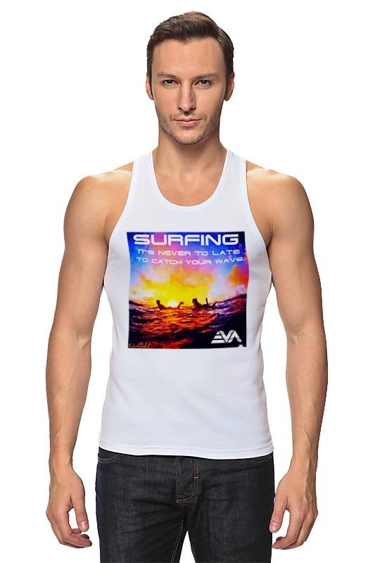 Майка классическая Printio Серфинг на закате цена 2017