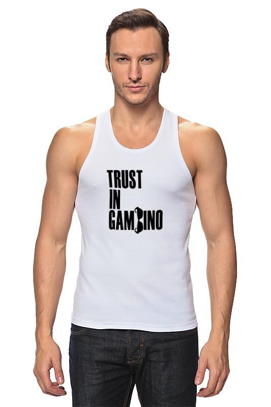 Майка классическая Printio Trust in gambino developing trust in ride sharing system