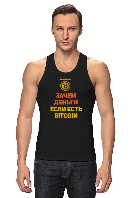 Майка классическая Printio Bitcoin club collection - satoshi nakamoto