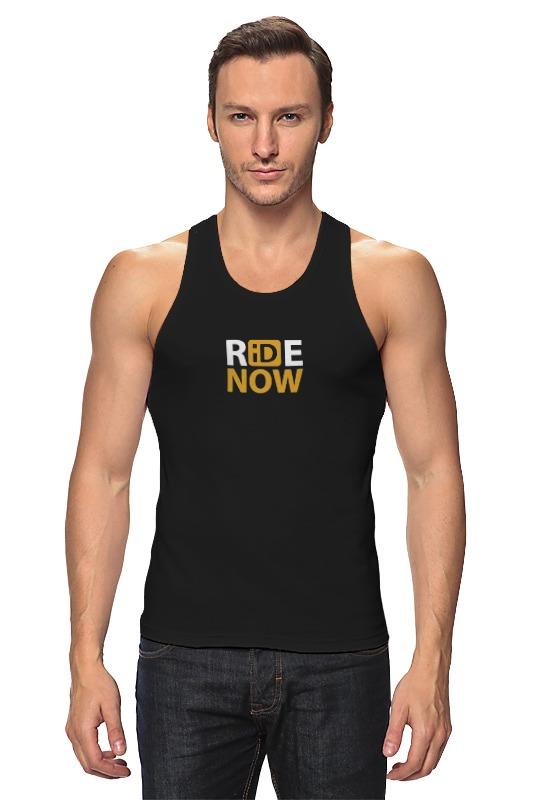 Майка классическая Printio Ride-now. для любителей активных видов спорта! женская одежда для спорта