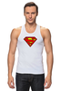 """Майка классическая """"superman"""" - супермен, superman, dc"""