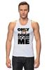 "Майка (Мужская) ""Only Doge Can Judge Me"" - мем, wow, doge, собакен, песе"