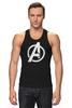 "Майка классическая ""Мстители (The Avengers)"" - hulk, marvel, мстители, железный человек, iron man, халк, the avengers"