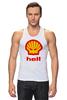 """Майка (Мужская) """"Hell (Ад)"""" - hell, shell, oil, моторное масло"""
