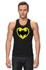 """Майка (Мужская) """"Я люблю Бэтмена"""" - комиксы, batman, супергерои, бэтмен, человек-летучая мышь"""