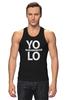 "Майка (Мужская) ""YOLO (You Only Live Once)"" - yolo, йоло, живешь только раз"