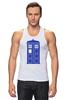 """Майка классическая """"Tardis (Тардис)"""" - сериал, doctor who, tardis, доктор кто, машина времени, телефонная будка, time machine, police box, phone box, полицейская будка"""