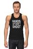 """Майка (Мужская) """"Hands up don't shoot (Руки вверх не стрелять)"""" - полиция, police, hands up, don't shoot, руки вверх"""