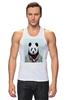 """Майка классическая """"Деловая панда"""" - медведь, мишка, панда, panda, крутая"""