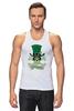 """Майка классическая """"Настоящий Ирландец (100% Irish)"""" - череп, клевер, патрик, лепрекон, настоящий ирландец"""