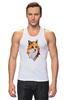 "Майка (Мужская) ""Poly Fox"" - fox, лиса, полигоны"