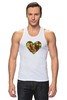 """Майка (Мужская) """"Fruit Heart"""" - heart, фрукты, fruit, вегетарианство, vegan"""