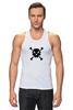 """Майка (Мужская) """"Pixel Art Skull"""" - skull, череп, pixel art, пиксельарт, pixelart, пиксельная графика"""