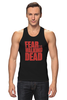 "Майка (Мужская) ""Ходячие Мертвецы (The Walking Dead)"" - страх, fear, ходячие мертвецы, the walking dead"