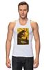 "Майка (Мужская) ""Godzilla yellow"" - фильмы, динозавр, годзилла, godzilla, фатастика"