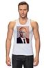 """Майка (Мужская) """"Путин-Арт"""" - россия, путин, президент, кремль, ввп"""