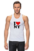 "Майка (Мужская) ""i love NY"" - new york"