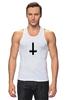 """Майка классическая """"Крест"""" - крест, pixelart, церковь, атеизм, перевернутый"""