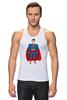 """Майка классическая """"Супермен (Superman)"""" - супермен, superman, супергерой, dc"""