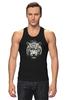 """Майка (Мужская) """"Белый тигр"""" - хищник, tiger, тигр, белый тигр, predator, white tiger"""