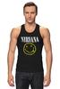 "Майка классическая ""Nirvana "" - гранж, супер, арт, nirvana, стиль, kurt cobain, логотип"