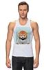 """Майка (Мужская) """"Деловая панда"""" - стиль, панда, red panda, деловая, выдра"""