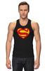 "Майка (Мужская) ""Я люблю Супермена"" - супермен, комиксы, superman, супергерои"
