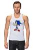 """Майка (Мужская) """"Sonic the Hedgehog"""" - games, игры, ёжик, компьютерные игры, pc, соник, sonic, 80's, video games"""