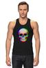 """Майка (Мужская) """"Череп 3D"""" - skull, череп, абстракция, 3d"""