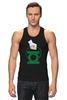 """Майка (Мужская) """"Green Lantern """" - арт, green, dc, lantern, green lantern, dc comics, зелёный фонарь"""