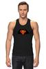 "Майка (Мужская) ""Superman x Batman"" - супермен, batman, superman, бэтман"