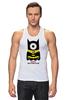 """Майка классическая """"Minion Batman                        """" - смешные, приколы, мультики, comics, стиль, batman, супергерои, dc, миньоны, superhero"""