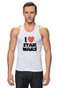 """Майка (Мужская) """"I love Star Wars"""" - фантастика, star wars, культовый фильм, звёздные войны"""