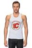 "Майка (Мужская) ""Calgary Flames,"" - хоккей, nhl, нхл, калгари флеймз, calgary flames"