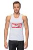 "Майка (Мужская) ""Marvel"" - комиксы, классная, крутая, marvel, spider man, марвел, железный человек, iron man, капитан америка, локи"