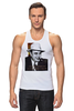 """Майка (Мужская) """"Аль Капоне"""" - череп, пистолет, авторские майки, ny, кости, шляпа, пуля, chicago, нью йорк, гангстер"""